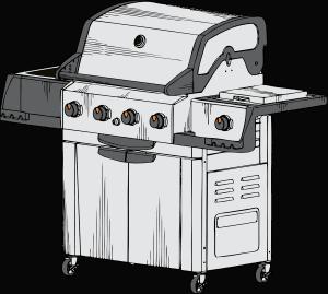 דגם של גריל גז
